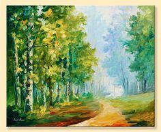 Summer Forest 2  Limited Edition Nature Green by AfremovArtStudio