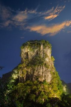 Chinese mountain landscape (Guilin, China), HDR image Stock Photo