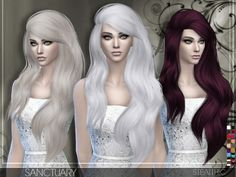 The Sims Resource: Stealthic - Sanctuary hairstyle • Sims 4 Downloads