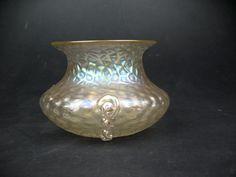 Kralik iridescent glass Rigaree vase martele Bohemian Art Nouveau Jugendstil | Pottery, Porcelain & Glass, Glass, Art Glass | eBay!