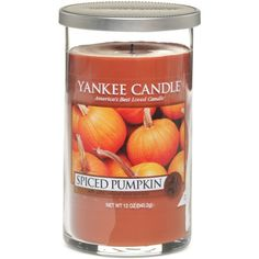 Yankee Candle Harvest Pillar (7.97 CAD) ❤ liked on Polyvore featuring home, home decor, candles & candleholders, spiced pumpkin, scented pillar candles, apple scented candles, pumpkin candle, apple home decor und pumpkin scented candles