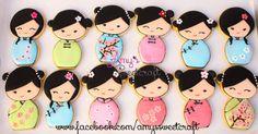 Chinese Kokeshi cookies