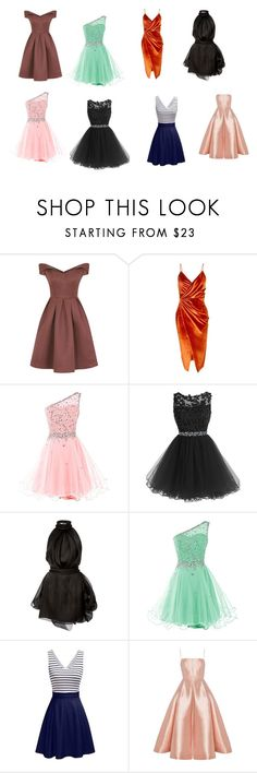 """Dresses"" by nurzarmina on Polyvore featuring Chi Chi, Boohoo, Brandon Maxwell and Alex Perry"