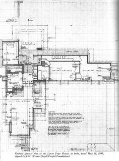 Wright Chat :: View topic - Details on Wright's Usonian brick wall construction? Lake House Plans, Craftsman House Plans, Best House Plans, Frank Lloyd Wright Buildings, Frank Lloyd Wright Homes, Prairie House, Prairie Style Houses, Federal Style House, Usonian House