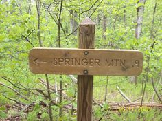 #84 Appalachian Trail in Georgia said to be the longest continually marked trail in the world, begins at Springer Mountain in Georgia and ends 2,100 miles north at Mount Katahdin in Maine. Because of the many approach trails on public land, this trail presents a many-faceted hiking opportunity for thousands of hikers each year. Congress authorized the Appalachian Trail as the first National Scenic Trail in 1968. The Appalachian Trail Conference now has responsibility for the trail. favorit place, bucket list, appalachian trail, north america