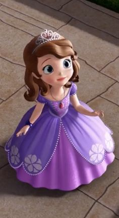 Sofia The First Characters, Princess Sofia The First, Walt Disney Cinderella, Disney Princess, Rapunzel Crown, Princes Sofia, Purple Squirrel, Animated Cartoon Characters, 2nd Birthday Party Themes