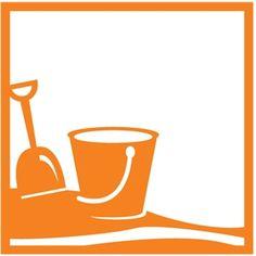 Silhouette Design Store - View Design #30933: shovel pail background 12x12