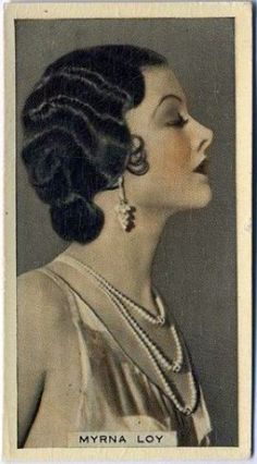 Myrna Loy cigarette card (link to her obituary http://www.nytimes.com/1993/12/15/obituaries/myrna-loy-model-of-urbanity-in-thin-man-roles-dies-at-88.html