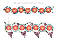 Free pattern for beaded necklace Paloma | Beads Magic#more-5568