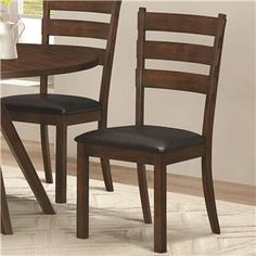3d95174f7c00 Coaster Urbana Rustic Side Chair with Black Leatherette Seat - Coaster Fine  Furniture