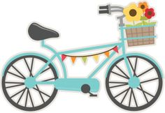 Bicycle SVG scrapbook- Wonderful site free svg every day!