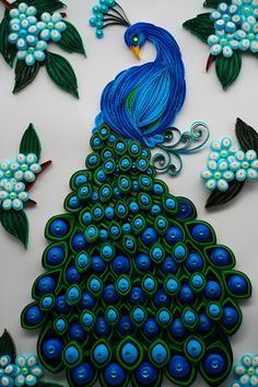 Neli Quilling, Quilling Work, Paper Quilling Jewelry, Paper Quilling Patterns, Quilled Paper Art, Quilling Paper Craft, Quilling Flowers, Paper Crafts, Peacock Quilling