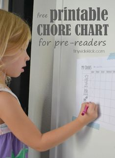 Free Printable Chore Chart for Preschoolers