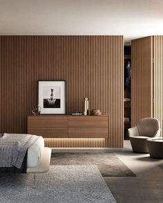 Interior Walls, Apartment Interior, Modern Interior, Home Interior Design, Interior Architecture, Wall Cladding Interior, Hidden Doors In Walls, Earthy Bathroom, Bathroom Modern