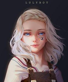 Digital Art Girl, Digital Portrait, Portrait Art, Digital Art Anime, Foto Fantasy, Fantasy Girl, Anime Girl Drawings, Anime Art Girl, Girl Cartoon