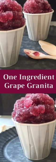 One Ingredient Concord Grape Granita. Simply the easiest, most delicious dessert.