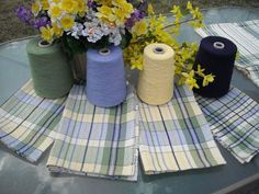 JoAnn Westlake Thiele April 17 · Edited · I originally posted this pic as an encouragement to be adventurous with color! These towels were made with modifications following the general idea of the 'Anything But Plain Towels' featured on the cover of Interweave's Design Collection 18. I stretched and tweaked and made it work for me! UKI 8/2 cotton ~ 20 epi ~ 10 dent reed. https://www.facebook.com/photo.php?fbid=1020358076727 0210