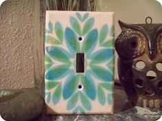 Vintage Style Light Switch Cover by peacelovecreations on Etsy, $10.00