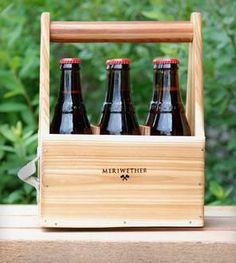 wood beer carrier