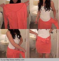 Comment transformer un pull en jupe