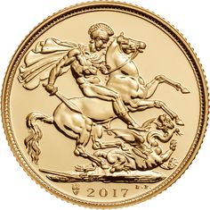 The 2017 Full Sovereign Gold Coin celebrates it's 200th anniversary in 2017. The 2017 coin features Benedetto Pistrucci's famous St George & the Dragon design, as featured on the first sovereign struck in 1817. The 2017 coin also features a new shield mint mark, placed below the defeated dragon, to signify the 200-year anniversary of the sovereign.  The obverse of the coin bears the fifth portrait of Queen Elizabeth II, designed by artist Jody Clark.  Each coin weighs 7.98g and is struck in…