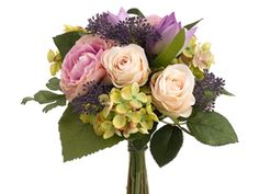 bridesmaid bouquet? Take green hydrangea out n put in a purple or blue?