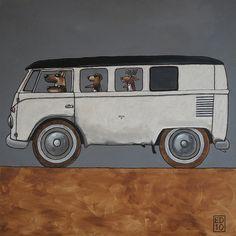 B(e)u(y)s - the pack VW Camper van illustration Vw Mk1, Volkswagen Bus, Camper Air Conditioner, Camper Drawing, Van Drawing, Vans Vw, Vw Logo, Bus Art, Vw Camping