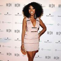 Brandy attended a music awards after party to kick off the launch of Prince Reigns at The Voo inside VooDoo Beach at Rio All-Suite Hotel & Casino on May 20, 2012.