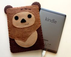 Ewok Kindle Cozy  I want to get an iPad just so I can wrap it it one of these cuties