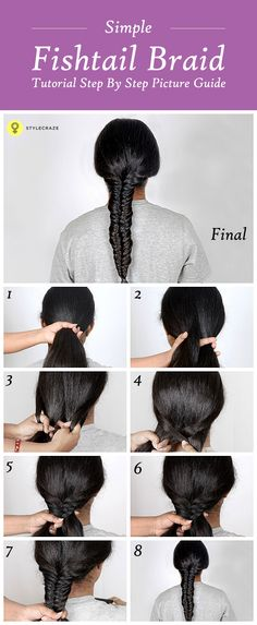 What better way to flaunt your hair by tying it up than with a fishtail braids? So, let's learn how to make a fishtail braids. Here is a Simple Fishtail Braids Tutorial  #braids