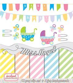 Babies Digital CLIP ART & Scrapbook Sheets by by MissAngelClipArt, $6.59