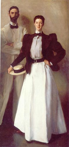 """Mr. And Mrs. Isaac Newton Phelps Stokes"" by John Singer Sargent.  They are ancestors of Edie Sedgwick."