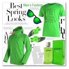 """""""Men's Fashion::Green Color"""" by gheto-life ❤ liked on Polyvore featuring H&M, Mammut, Saucony, Joop!, Illesteva, men's fashion and menswear"""