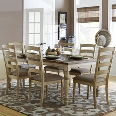 TRIBECCA HOME Carlingford Buttermilk Country Extending Dining Table - Overstock™ Shopping - Great Deals on Tribecca Home Dining Tables