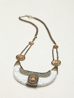 Free People Pisco Sour Necklace SAMANTHA WILLS Bohemian Jewellery jewelry gold stones precious statement vintage style
