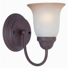 Commercial Electric Nutmeg 1-Light Sconce; 2 for the hallway where there is for some reason no light fixture?