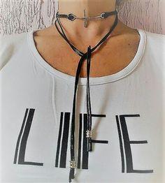 Choker gargantilha pescoço necklace colar cordao neck cross cruz bijuterias acessories bijoux feminina female mulher jovem moderna moda fashion estilo chic elagance