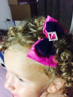 Fascia , fiocco fucsia e blu, nastro capelli, baby, headband, bow, satin , ribbon,