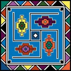 ndebele art - Bing Images South African Artists, African Tribes, Africa Symbol, Kunst Der Aborigines, African Tattoo, Tapestry Crochet Patterns, Art Therapy Projects, Earth Design, African Mud Cloth