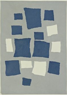MoMA | Jean (Hans) Arp. Untitled (Collage with Squares Arranged According to the Laws of Chance. 1916–17