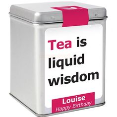 Personalised Tea - Tea is Liquid Wisdom  from Personalised Gifts Shop - ONLY £9.95