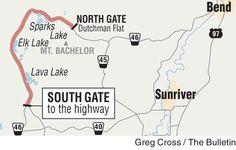 Cascade Lakes Highway gates