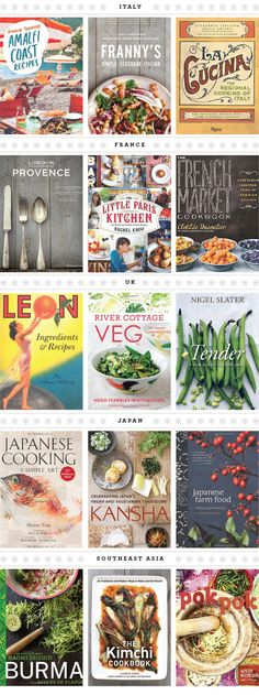 favorite cookbooks, by region
