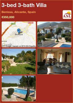 3-bed 3-bath Villa in Benissa, Alicante, Spain ►€350,000 #PropertyForSaleInSpain