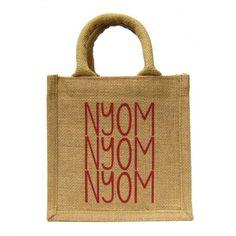 Mini Lunch Jute Bag with Nyom Nyom Nyom Print  £11.00