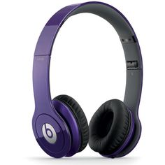BEATS BY DRE Solo HD Headphones ($170) ❤ liked on Polyvore featuring headphones, accessories, beats, electronics, tech and purple