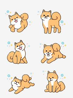 Realism Dog Puppy Print Washi tape golden retriever Poodle Pug Samoyed Wide