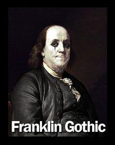 Ben Franklin / Portrait / Goth / Gothic / Alice Cooper.