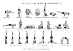 Ashtanga Nadi Shodhana (second series) from Titibasana to Urdva Dhanurasana. Ashtanga Yoga Sequence, Yoga Sequences, Yoga Poses, Yoga Chart, Yoga Breathing, Yoga Pictures, Yoga Motivation, Yoga Positions, Iyengar Yoga