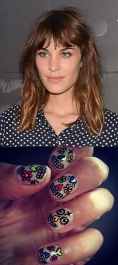 Alexa Chung shows off Fashion's Night Out nail art on Twitter